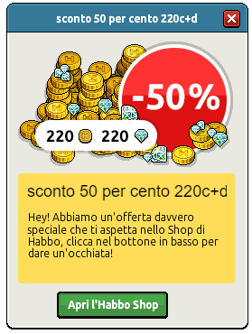 [ALL] Reinserita Offerta sconto 50% su 40 o 220 crediti+diamanti 12310