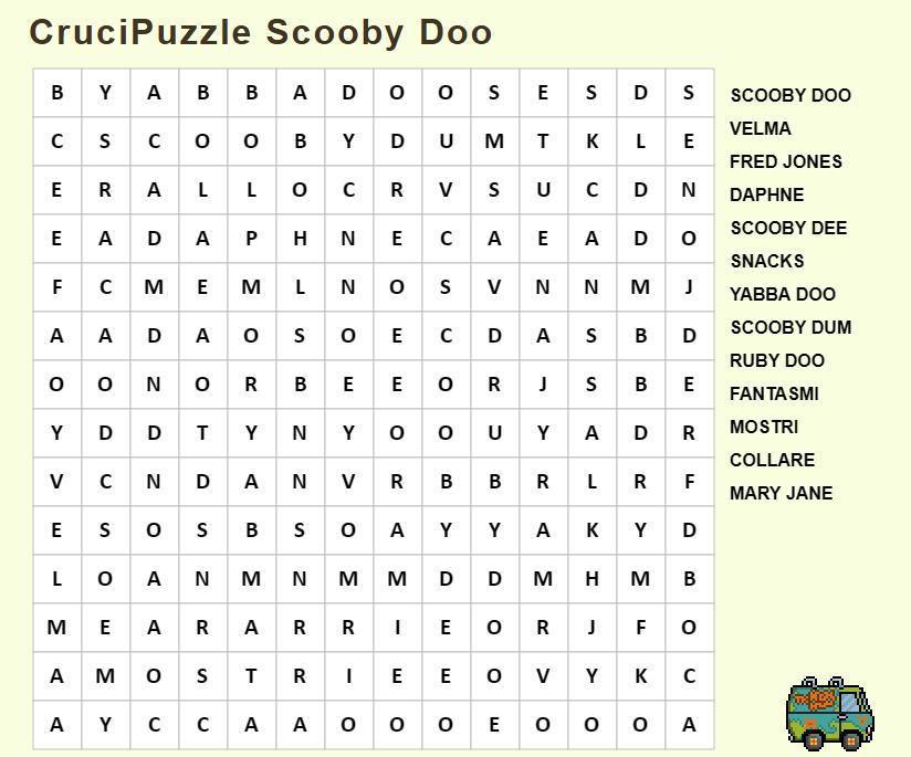 [IT] Competizione forum Scooby-Doo: Crucipuzzle #1 - Pagina 8 Crucip10