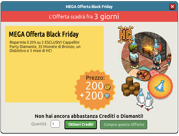 [ALL] Offerta Black Friday con Cappellino Party Diamante Iopoi10