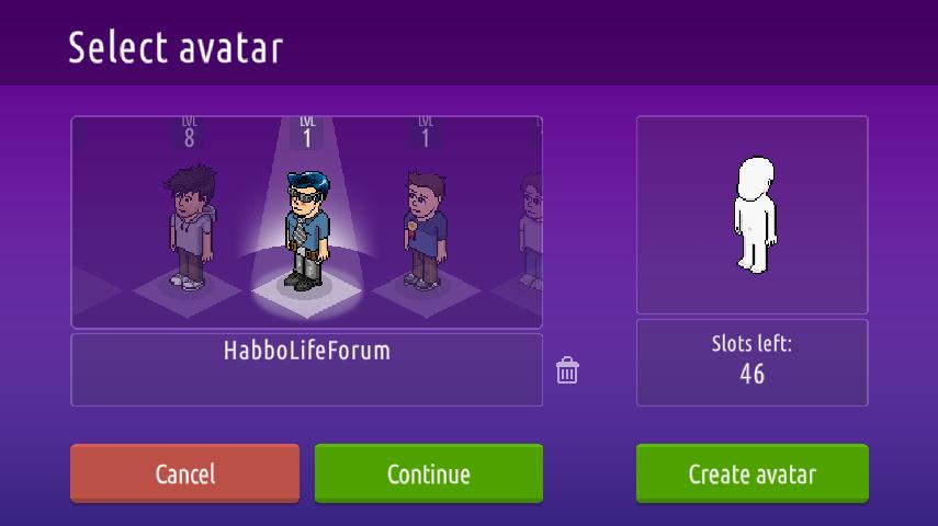 Creazione ed eliminazioni di personaggi su Habbo2020 Sche2378