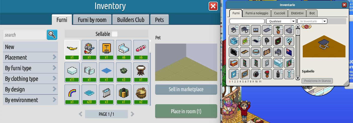 L'inventario e il Builders Club su Habbo2020 Sche2431