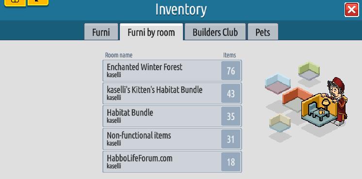 L'inventario e il Builders Club su Habbo2020 Sche2437