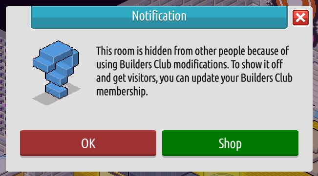 L'inventario e il Builders Club su Habbo2020 Sche2448