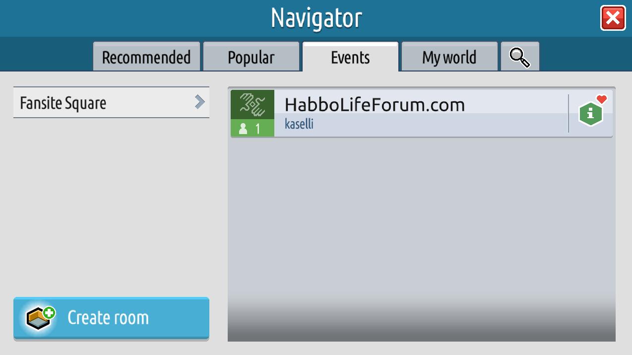 Il navigatore, gli eventi e le informazioni stanza su Habbo2020 Sche2519