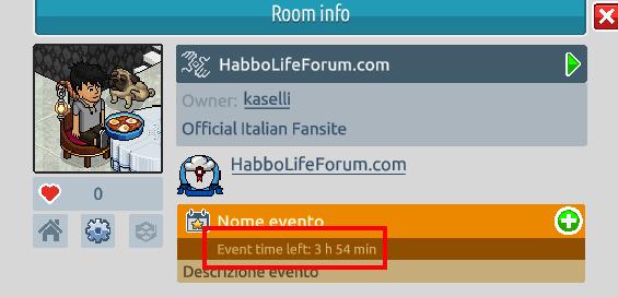 Il navigatore, gli eventi e le informazioni stanza su Habbo2020 Sche2547
