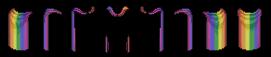 Indumenti arcobaleno a tema Pride + Kimono Sche3084