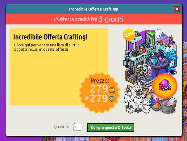 Inserita offerta Mega Collezionista di Oggetti Crafting su Habbo Sche3160