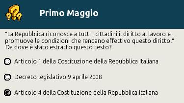 """[IT] Quiz """"Primo Maggio, festa del Lavoro"""" al Picnic Scher583"""