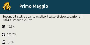 """[IT] Quiz """"Primo Maggio, festa del Lavoro"""" al Picnic Scher584"""
