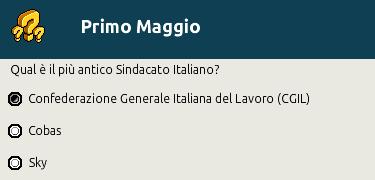 """[IT] Quiz """"Primo Maggio, festa del Lavoro"""" al Picnic Scher586"""