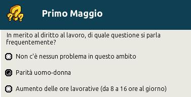 """[IT] Quiz """"Primo Maggio, festa del Lavoro"""" al Picnic Scher587"""