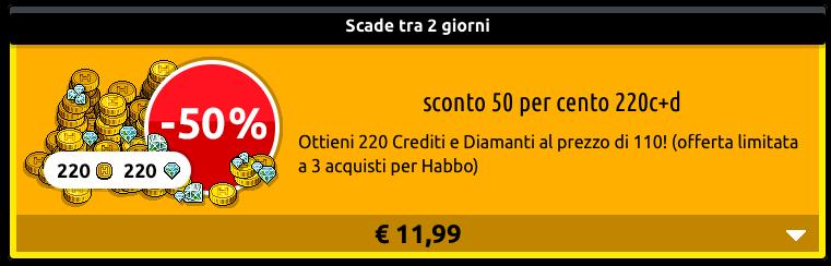 [ALL] Inserito sconto 50% crediti + diamanti su Habbo Scher769