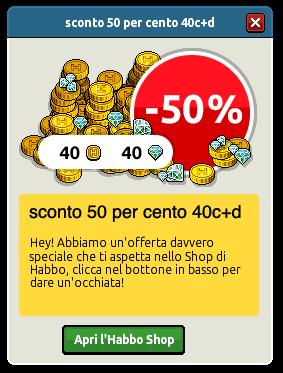 [ALL] Inserito sconto 50% crediti + diamanti su Habbo Scher771