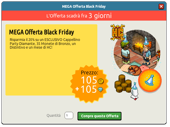 [ALL] Offerta Black Friday con Cappellino Party Diamante Scherm84
