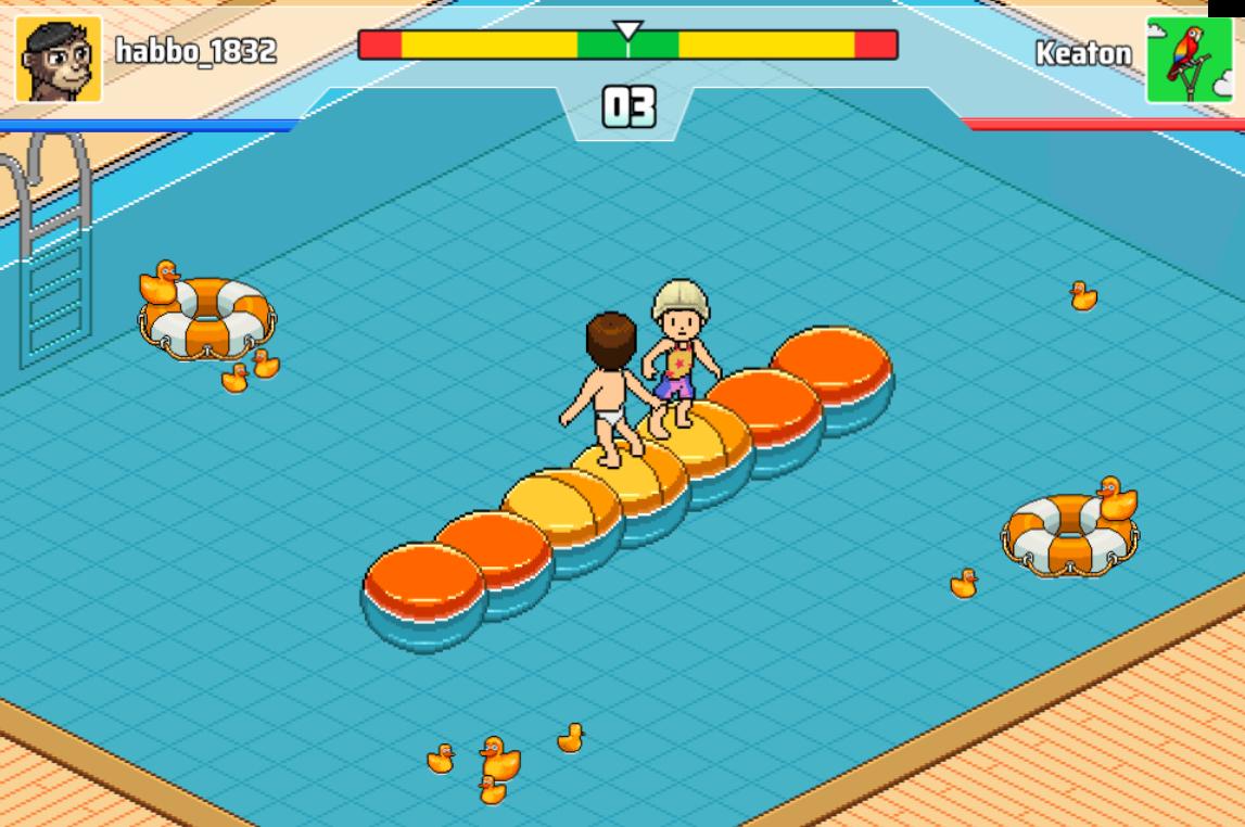 Prova il nuovo minigame Habbo Wobble Squabble Ws1010