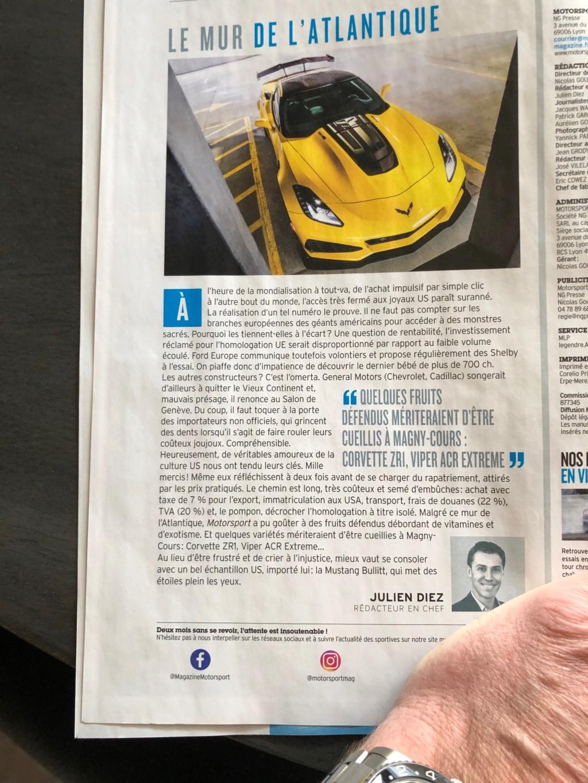 On parle de la ZR1 dans la presse, c'est rare :) - Page 2 Img_7915