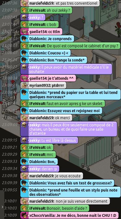 [C.H.U] Rapport d'action RP de Diablomix Rp410