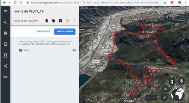 visualisez vos traces GPX dans google earth Captur18
