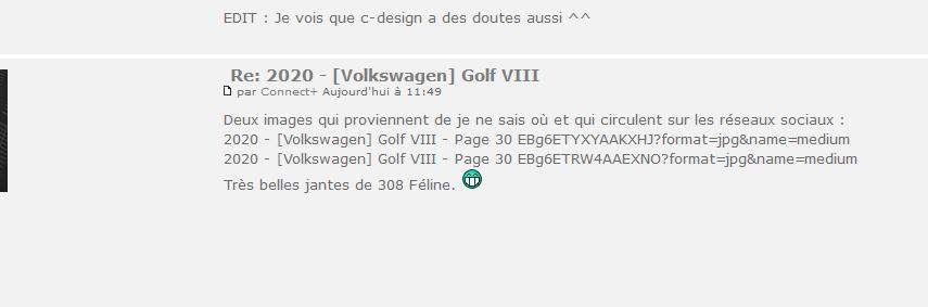 2020 - [Volkswagen] Golf VIII - Page 30 Captur11