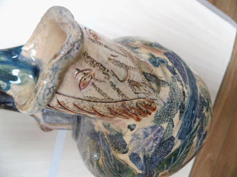 german rare antique pottery stoneware keramic steinzeug cane ? Help Infos Dsci2516