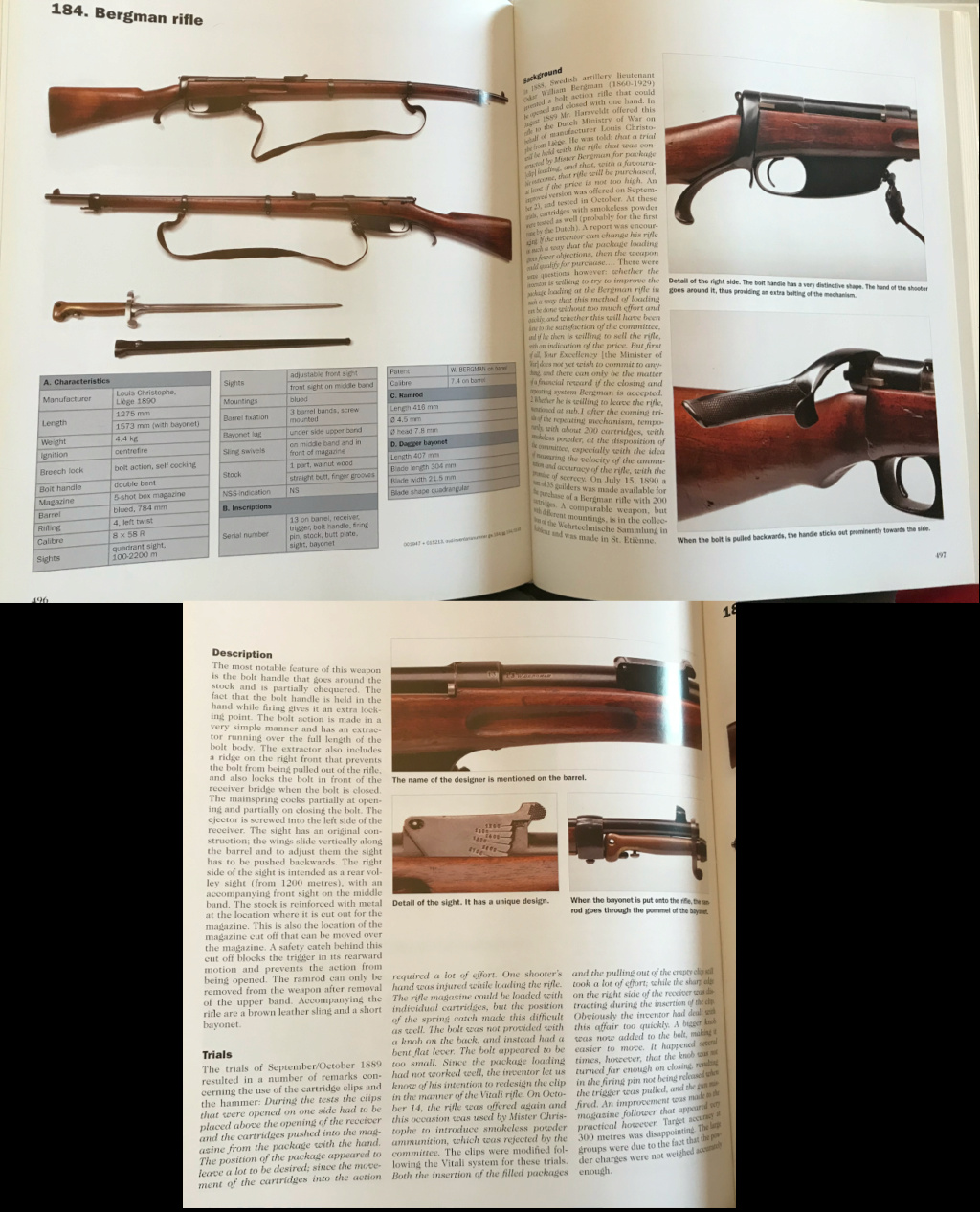"""Unidentified St. Etienne Bolt Action Rifle"" Bergma10"