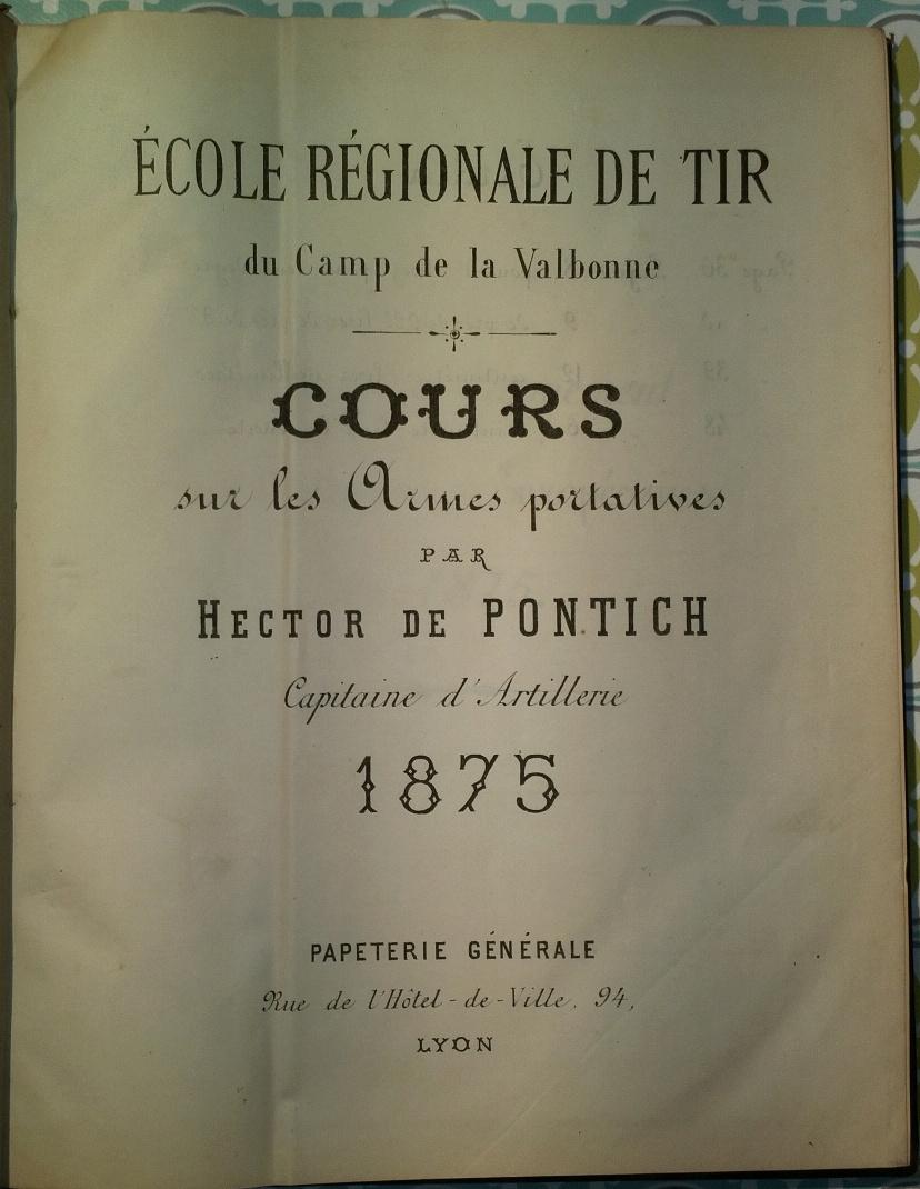 Instruction sur les armes et les munitions en service - Texte et planches - 1905 - France - Page 2 Hector11