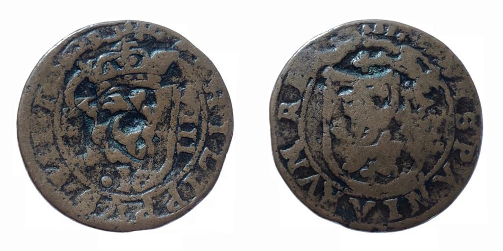 8 maravedís de Felipe III de Segovia, resellados. 95792310