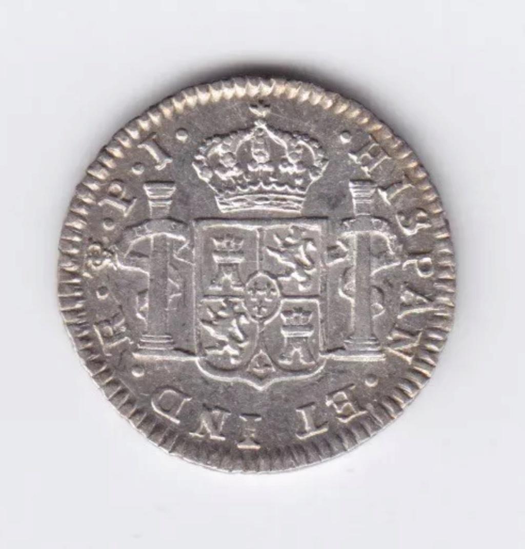 1807 PJ medio real Potosí.  Carlos IV 5e2b2d10