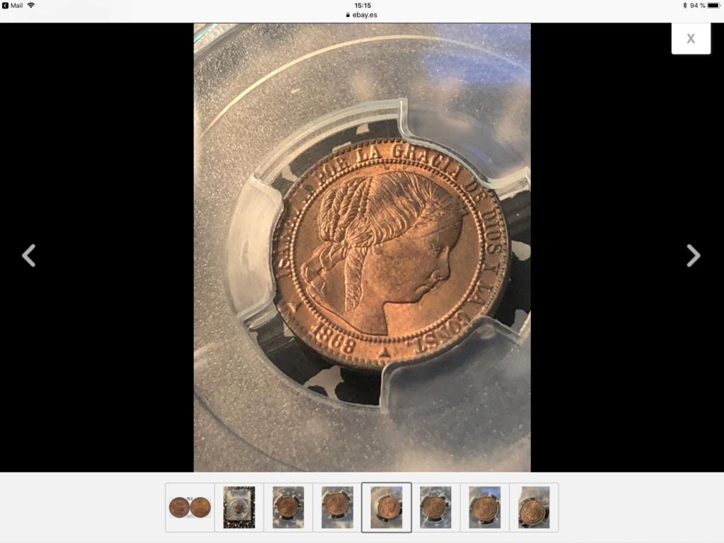 1868 1 céntimo de escudo de Segovia  668a6a10
