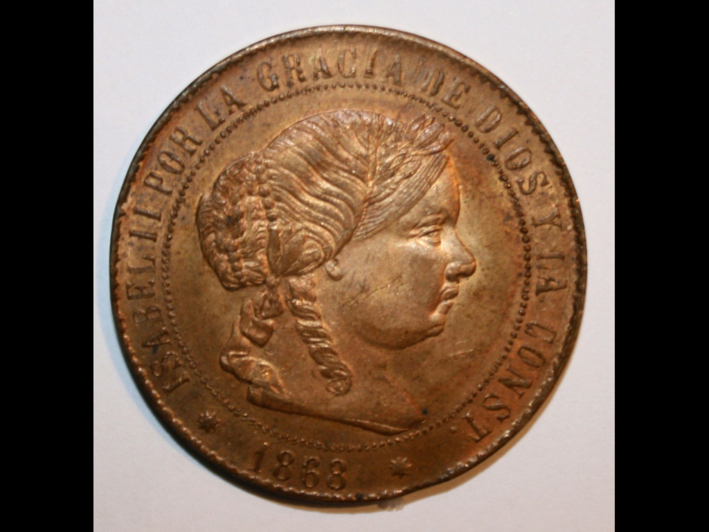 1868 Barcelona 5 centimos de escudo 6e9c3610
