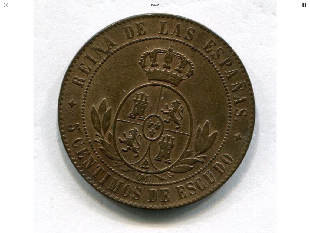 1867 Jubia 5 céntimos de escudo 8a087910