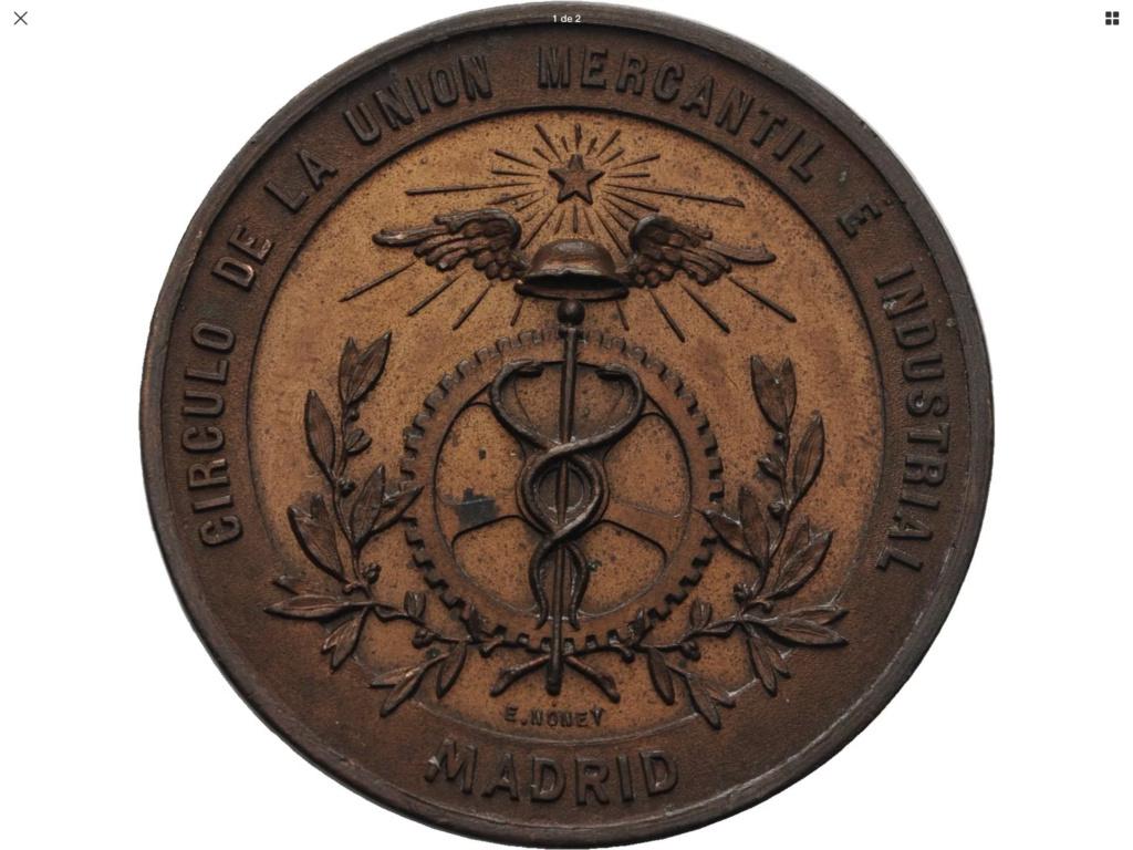 Medalla Exposición Fabril y Manufacturera ..... 1884 A14d4310