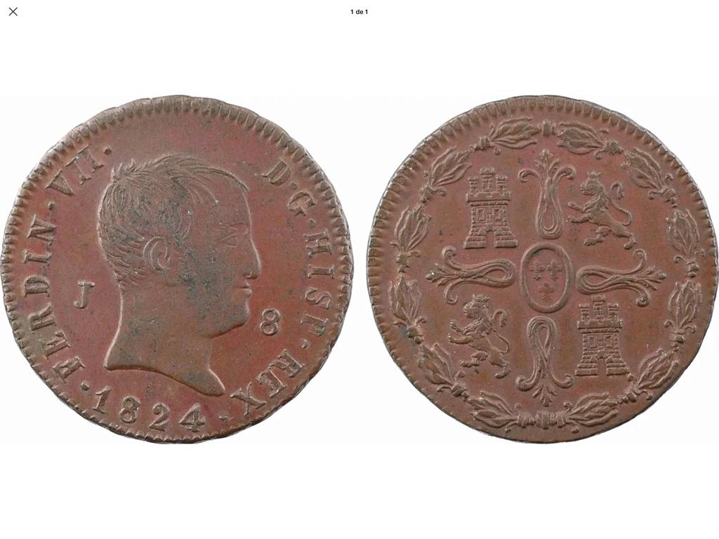 1824 Jubia, 8 maravedis A92a1410