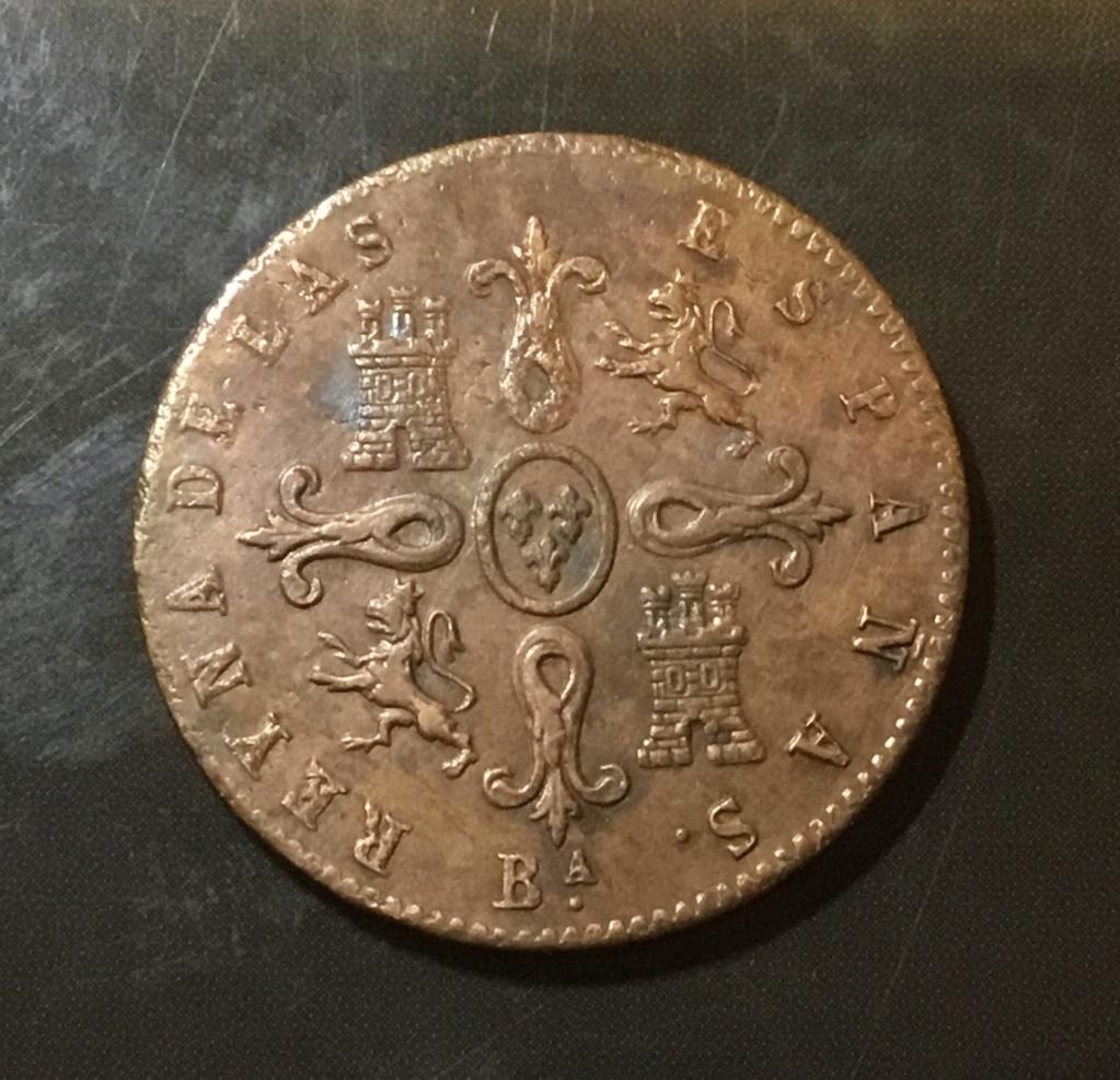 1855 Barcelona, 4 maravedis A9961d10