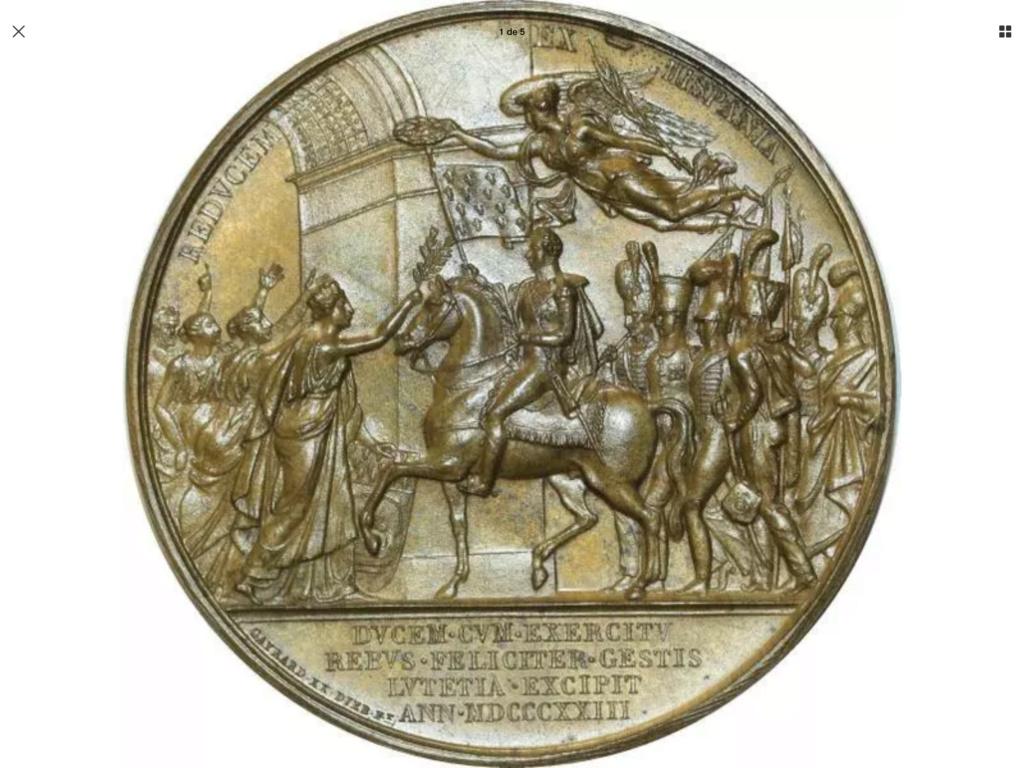 1823 Luis XVIII . Intervención en España del Duque de Angulema Bbbe1410