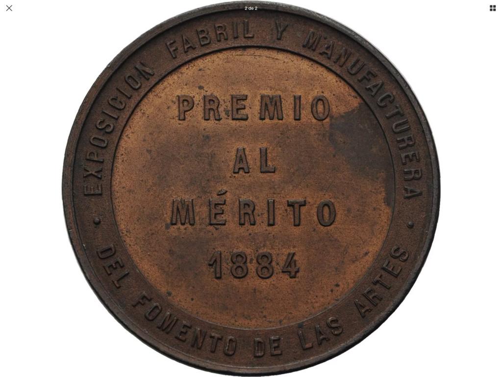 Medalla Exposición Fabril y Manufacturera ..... 1884 C3841510