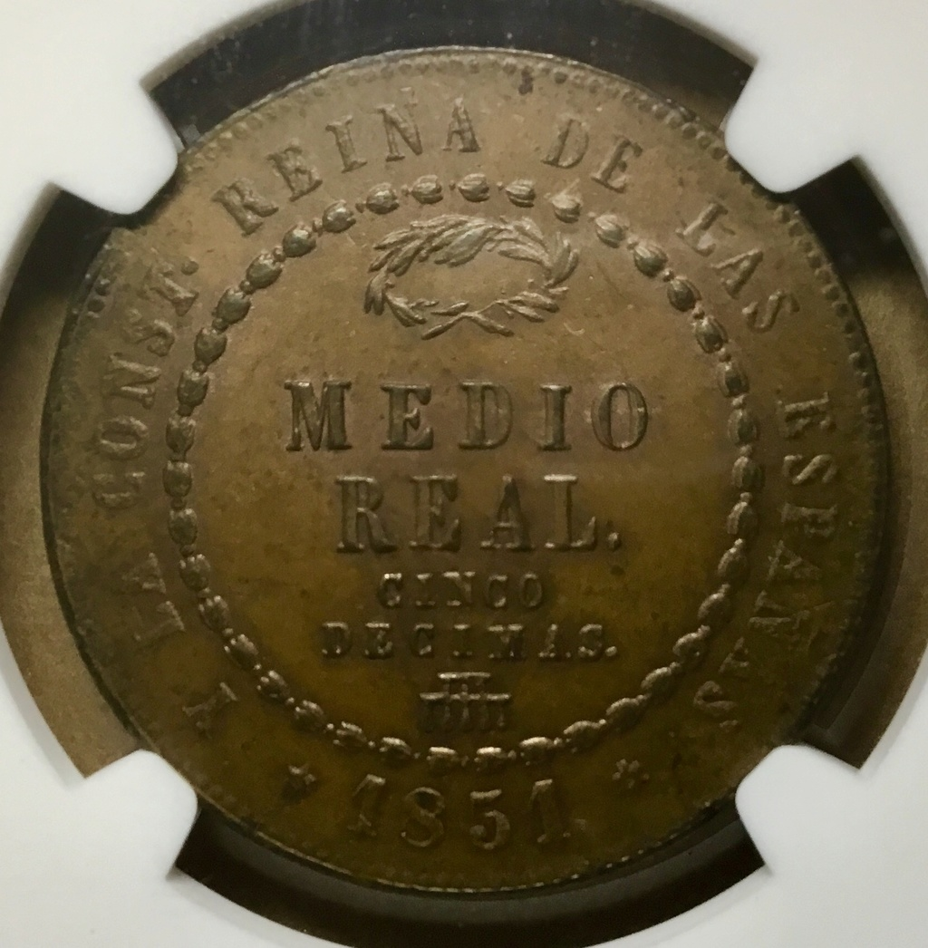 Medio real 1851, Segovia Ca7e8d10