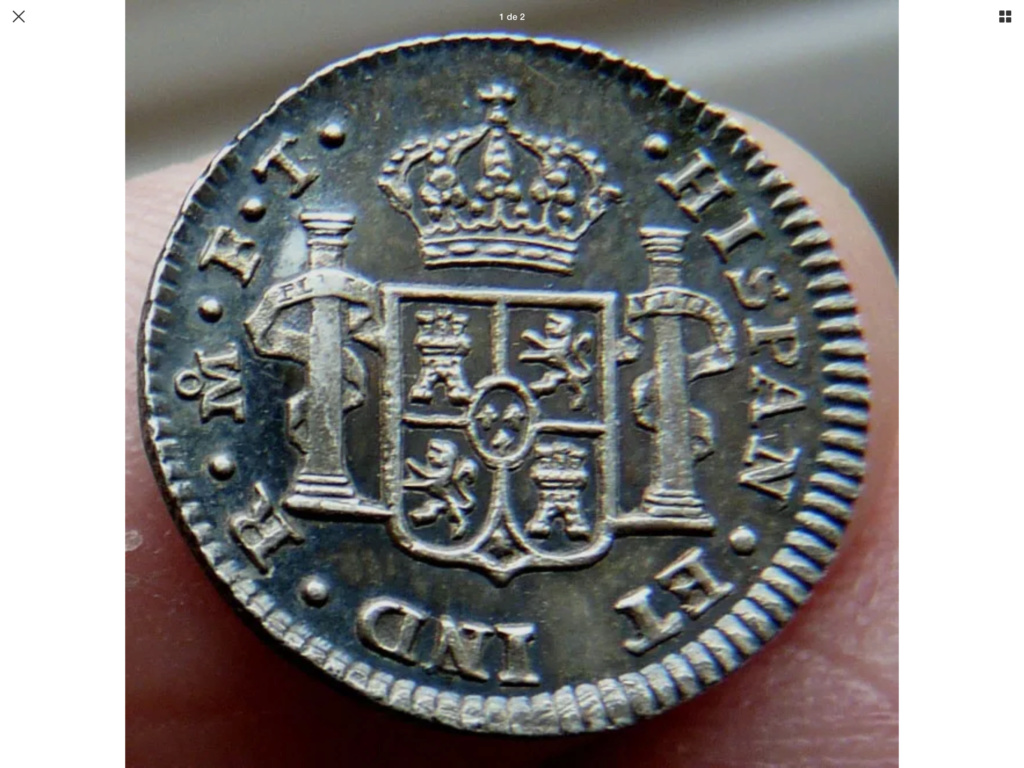 1802 FT medio real Mexico. Carlos IV D5fabb10