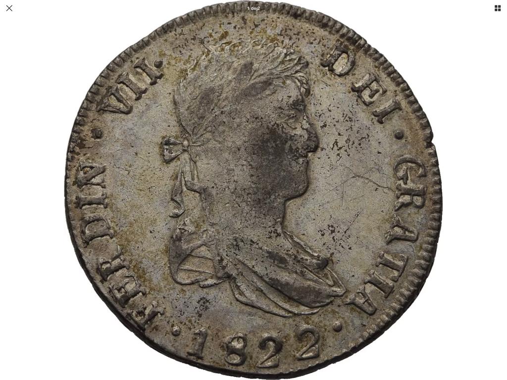 1822 potosí, 8 reales Fernando VII E6b05610
