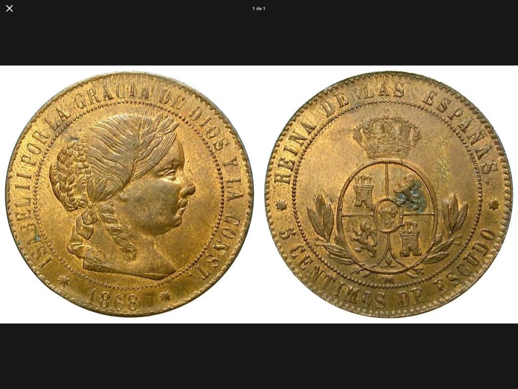 1868 Barcelona 5 centimos de escudo F159af10
