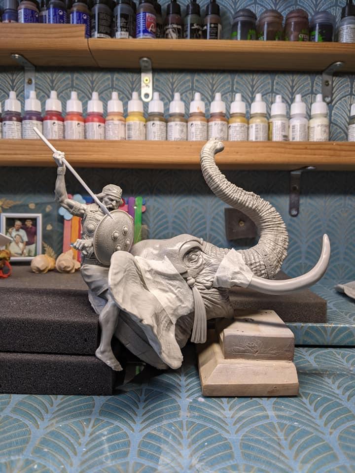 RP MODELS - Buste d'éléphant de guerre carthaginois 18188410