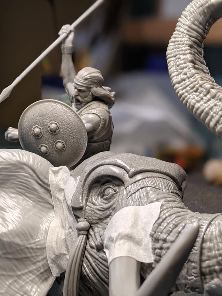 RP MODELS - Buste d'éléphant de guerre carthaginois 18288510