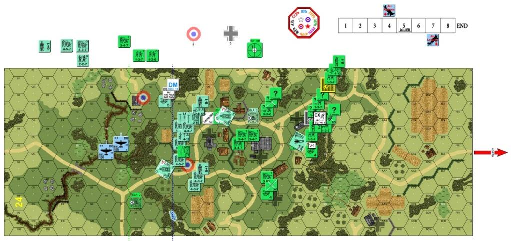 "(More) Air Support Training On VASL, J-048 ""Blood Enemies"" (John vs Robin) J-048-12"