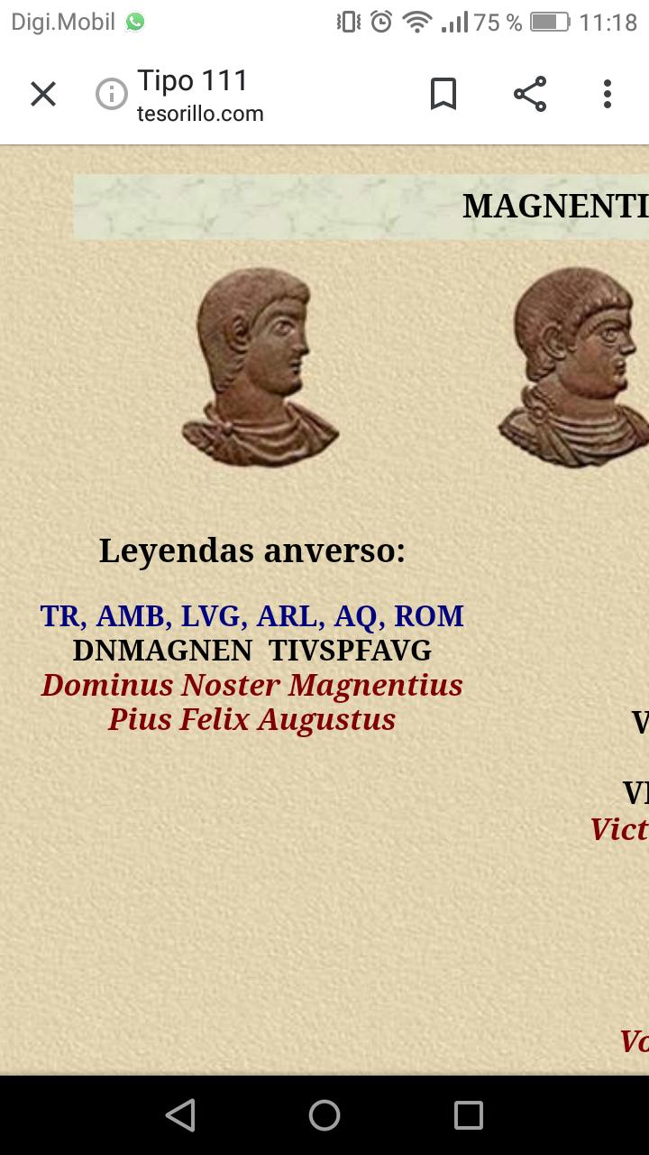 AE2/ Maiorina de Magnencio. VICTORIAE DD NN AVG ET CAE. Lyon  Screen10