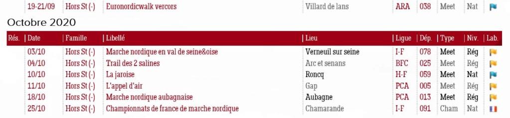 Marche Nordique Tour - Epreuves 2019-2020 Calend11