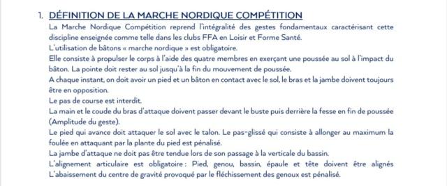 Réglement Marche Nordique Compétition 01/11/2019 Defini10
