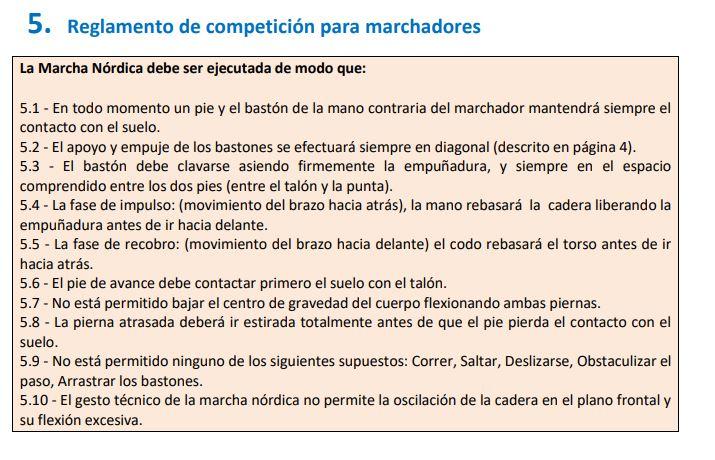 NORDIQUE - Réglement des compétitions en Marche Nordique FEDME en Espagne Fedmer10