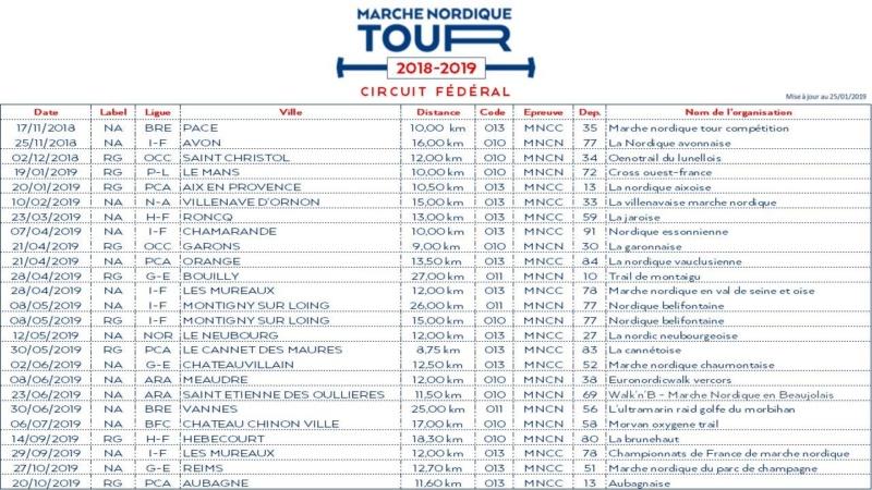 MARCHE - Marche Nordique Tour - Epreuves 2018-2019 Mnc20110