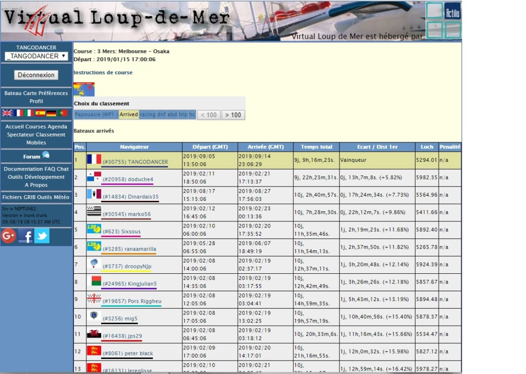 "Courses Records VLM  "" 3 Mers Melbourne - Osaka "" 3_mers10"