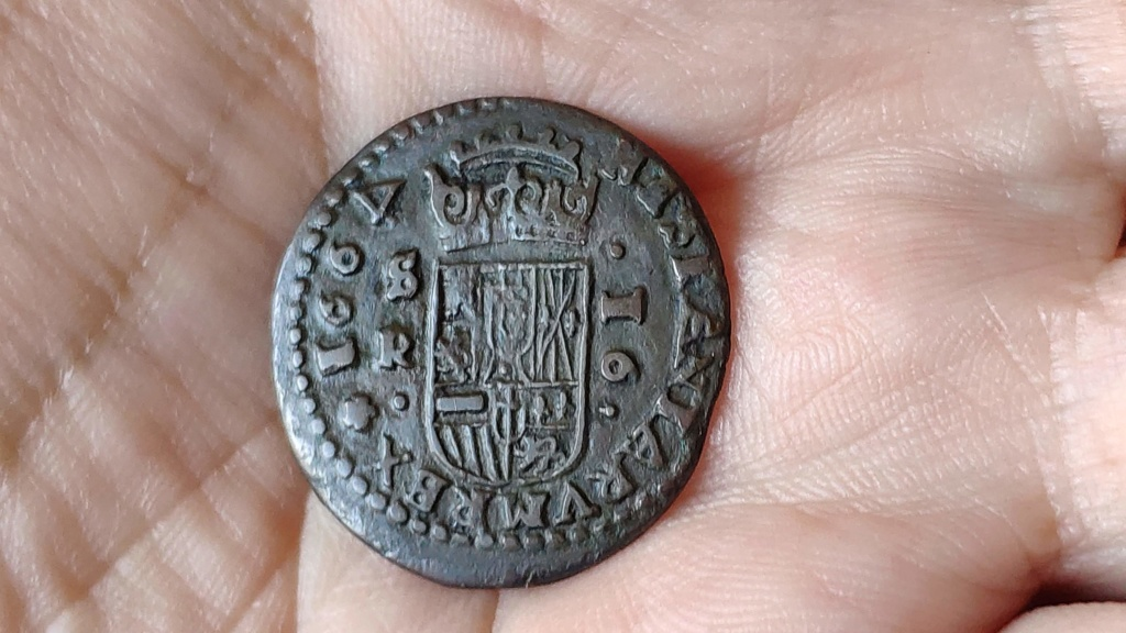 16 Maravedís Felipe IV de Sevilla, 1664 con el 4 girado. Img_2039